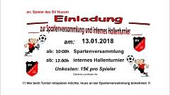 Fußball - Spartenversammlung und internes Hallenturnier©SV Husum